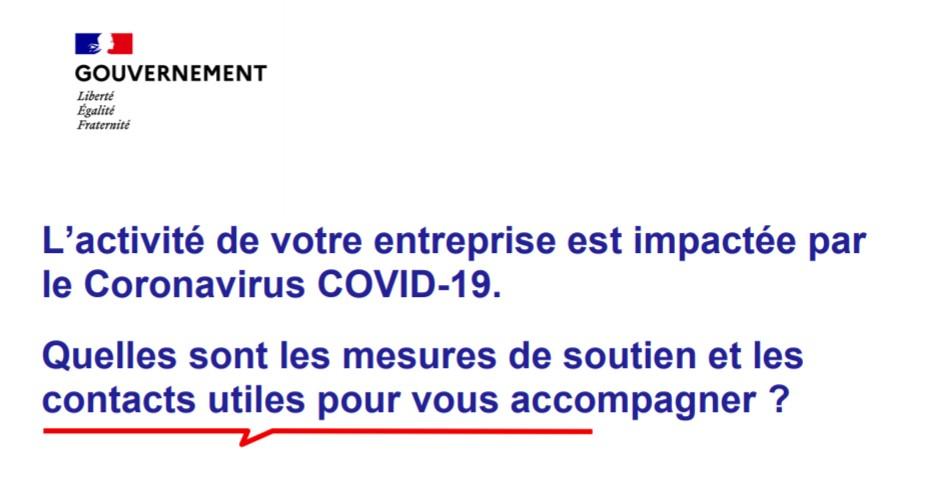 COVID-19 - Accompagnement des entreprises