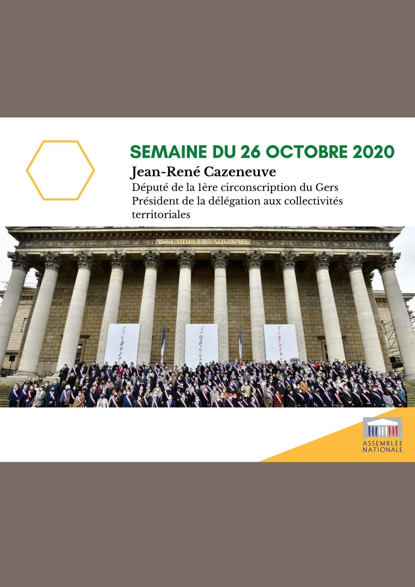 Semaine du 26 octobre 2020
