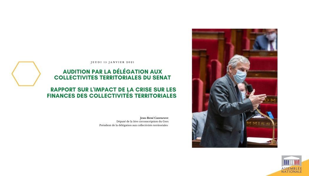 Audition par le Sénat - Mission sur l'impact de la crise sur les finances des collectivités