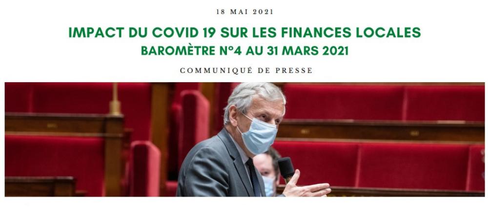 Baromètre n°4 - Impact de la crise du COVID19 sur les finances locales au 31 mars 2021