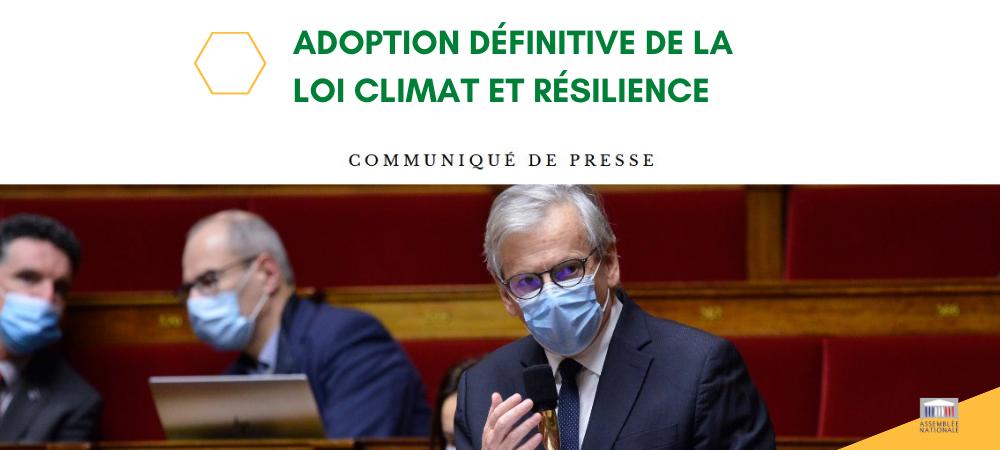 Adoption définitive du projet de loi Climat et Résilience