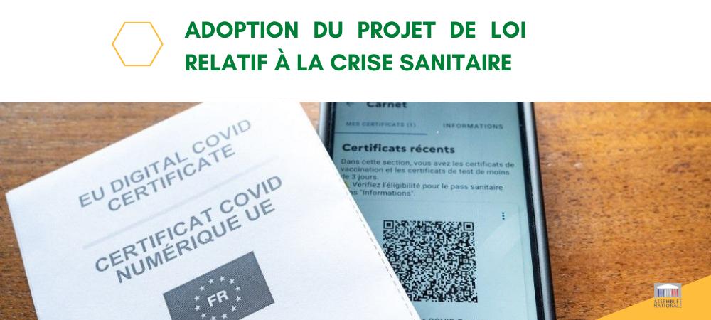 Adoption du projet de loi relatif à la crise sanitaire