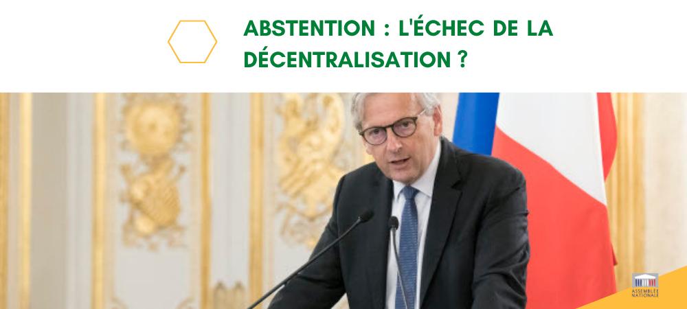 Abstention : l'échec de la décentralisation ? Ma tribune dans le Journal du Dimanche